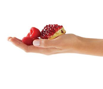 Raspberry Pomogranate Hands